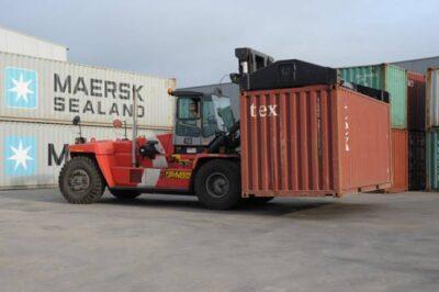 Container Handling met Heftruck
